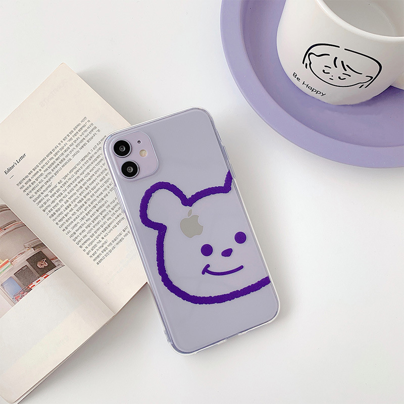 2020 <font><b>Original</b></font> Cartoon Animals Dog Bear <font><b>Cases</b></font> For <font><b>iPhone</b></font> 11 11PROMAX 11PRO 7 <font><b>8</b></font> 7Plus 8Plus X XS XSMAX XR High Quality Soft <font><b>Cases</b></font> image
