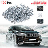 100Pcs 12mm Car SUV ATV Anti-Slip Screw Spin Stud Wheel Snow Tire Spikes W8I6
