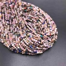 Cuentas pequeñas de turmalina AB de 2, 3 y 4mm, microcuentas naturales de piedra, cuentas redondas de cristal de cuarzo, joyería, Pequeña Piedra