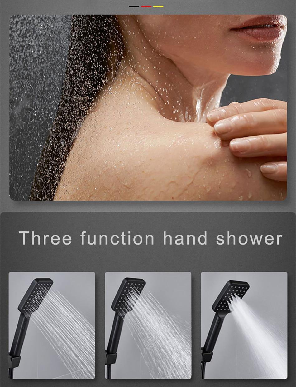 H1cdb43be01084c7c9331d7048f6662dec Hot and Cold Digital Shower Set Faucet Bathroom Shower System Black Gold Shower Faucet Square Shower Head Bath Shower System