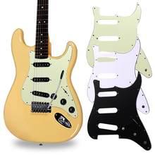 3 ply sss pvc pickguard guitarra elétrica para fd toda a guitarra proteger acessórios 11 furos de parafuso montagem pickguard dropshipping