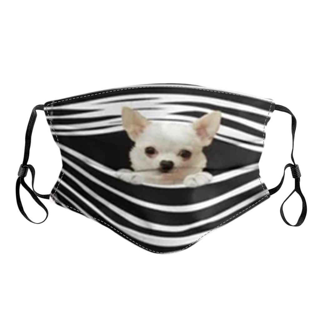 Geral cães imprime respirável lavável máscara rosto filtro de cobertura pode ser colocado reutilizável boca capa tecido máscaras mascarilla d55 5