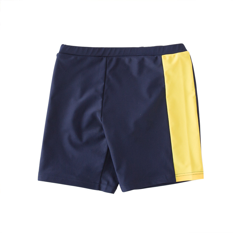 Short In Size Processing CHILDREN'S Swimming Trunks Kids Swimsuit BOY'S Boxer Swimwear Yellow Edge Mixed Colors Beach Shorts
