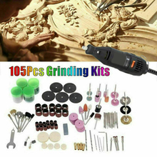 105pcs Mini Electric Drill Grinder Rotary Tool Accessory Bit Set For Grinding Sanding Polishing Disc Wheel Tip Cutter Drill Disc