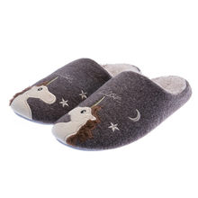 Dropshipping Indoor Warm Men Cute Animal Unicorn Winter Fur Home Shoe Female Boy Nonslip Memory Foam House Cotton Slippers(China)