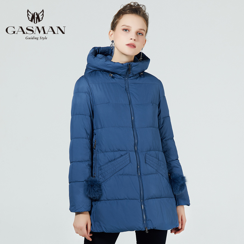 GASMAN 2019 New Winter Collection Hooded Women Parkas A line Coat Windproof Female Fashion Winter Thick Jackets Down Brand