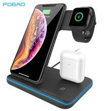 3 in 1 Fast Charging Station for AirPods 15W Qi Quick Wireless Charger For Apple Watch