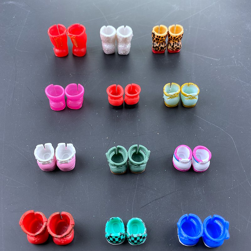 5 Pairs Original Mini Shoes  For LOLs Sister Dolls DIY Doll Accessory Kid's Birthday Gift Toy