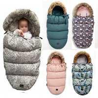 Sac de couchage bébé poussette hiver chaud sac de nuit coupe-vent pour infantile enveloppes de fauteuil roulant pour bébé chancelière nouveau-né sacs de nuit