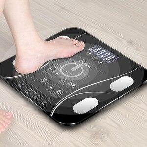 Image 1 - Bad Körper Skala Boden Gewicht Skala Elektronische Waagen Bad Skala Haushalts Waagen