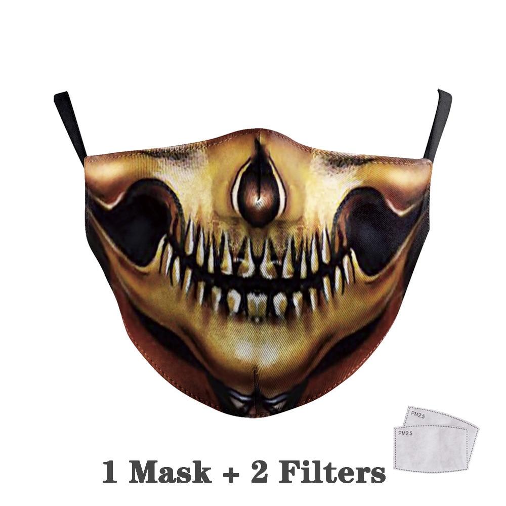 Washable Big Mouth Skull Face Masks 28