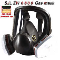 SJL 6800 Atemschutz gas maske Hohe definition Charming Anti-virus umfassende Spray farbe Pestizid spray Chemische gas maske