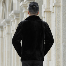 Abrigo de piel auténtica de visón chaqueta de invierno para hombre nuevos abrigos de piel Natural para hombre chaquetas de visón de lujo abrigo de abrigo G05-AC618 dj1346