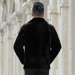 Real Mink Fur Coat Men Winter Jacket Man New Natural Fur Coats Mens Mink Jackets Luxury Coat overcoat G05-AC618 KJ1346