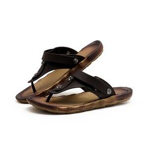 Image 5 - Flip flops Summer Sandals Wear Slippers For Men Mens Slipper Big Plus Size sandale femme teenslippers mannen claquette fourrure