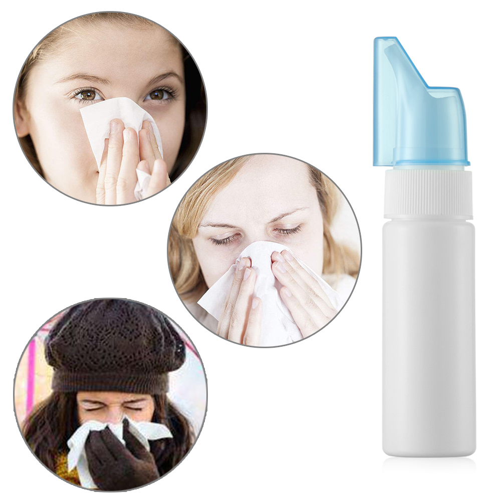 1PC PE Portable Nasal Wash Neti Pot Nose Wash Empty Refillable Bottles Sterilization Anti Allergic Spray Container Cleaning Tool