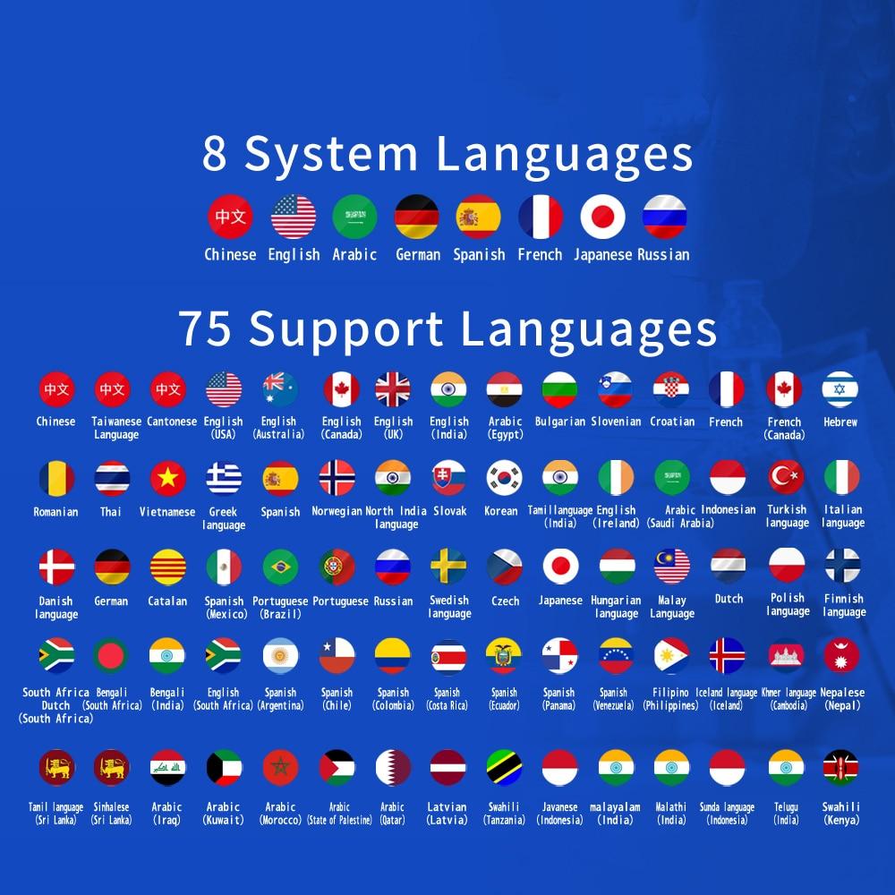 Image 4 - Portable AI Smart Voice Translator traductor de idiomas en tiempo real 76 Language instant Translator Photo Offline translation-in Translator from Consumer Electronics