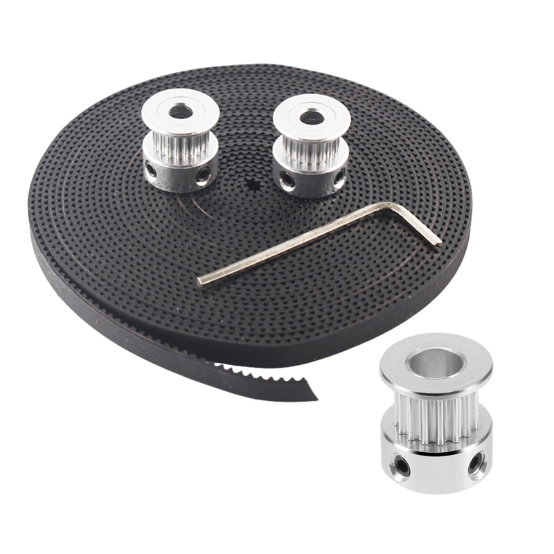 1 Set GT2 16 Teeth 6Mm Bore Timing Belt Pulley Flange Synchronous Wheel for 3D Printer & 1 Set Hot 3D Printer Parts Accessory 2P