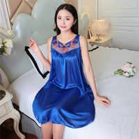 Летняя вискозная женская сексуальная ночная рубашка с коротким рукавом, пижама, сексуальная ночная рубашка с v-образным вырезом