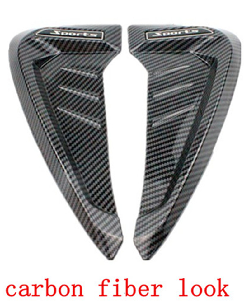 1Pair  Carbon Fiber Look  Side Air Vent Cover Trim  Side Fend Vent Air Wing Cover Trim Type  Fit For BMW X1X3X4X6 E90 Mni