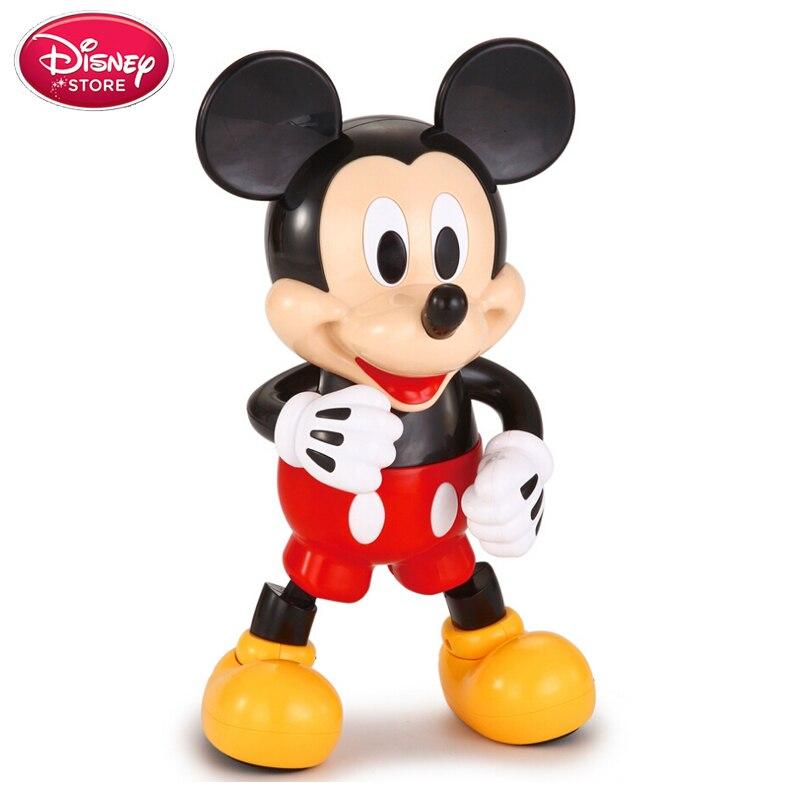 Balançoire Disney danse Mickey souris enfants bébé électrique lumière danse poupée jouets modèle Disney Minnie figurines d'action