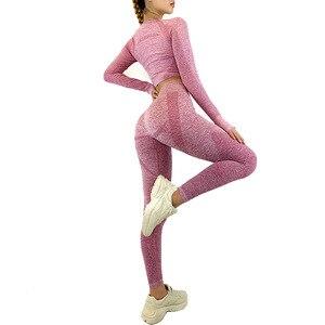 Seamless Gym Clothing Women Gym Yoga Set