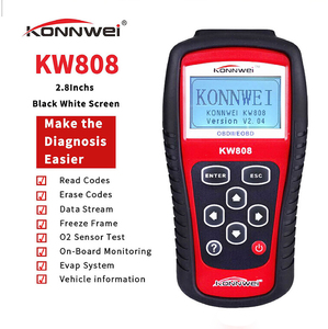 Image 4 - KONNWEI – KW808 Scanner de voiture dorigine, outil de Diagnostic automobile, prise en charge du moteur J1850, lecteur de Code Fualt, dfd