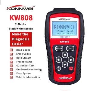 Image 4 - オリジナルkonnwei KW808 obd車スキャナOBD2自動車自動車診断サポートJ1850エンジンfualtコードリーダーdfd
