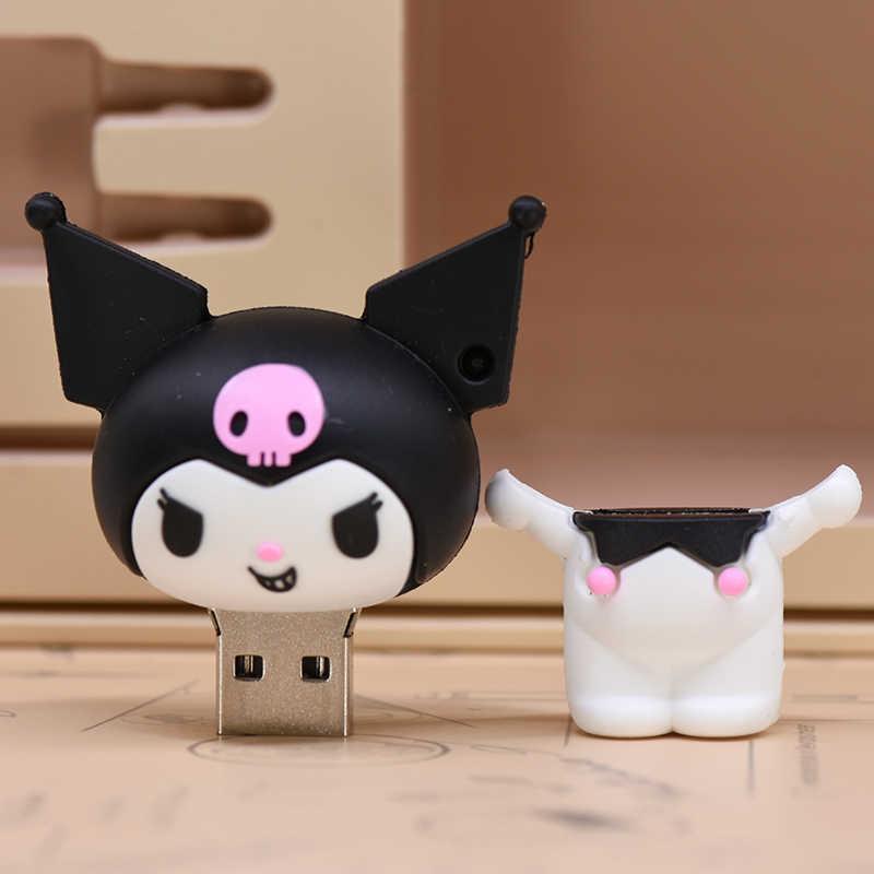 Lucu Kartun Pena Drive Anime U Stick 4GB 8 Gb 16GB 32GB 64GB 128GB 256GB USB Flash Drive Kelelawar Hantu Memory Stick