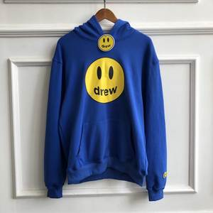 Sweatshirts Men Hoody Drew House Couples Justin Bieber Smile 19FW Blue New-Color Women