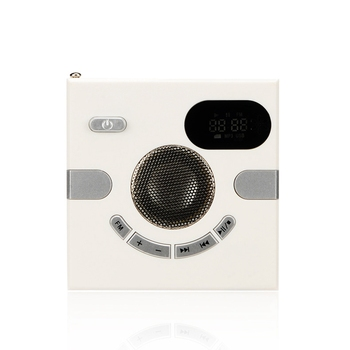 Multi-Function Wall Audio Wall-Mounted Speaker FM Radio Headphone Jack Support Auxiliary Audio Remote Remote Wall Audio фото