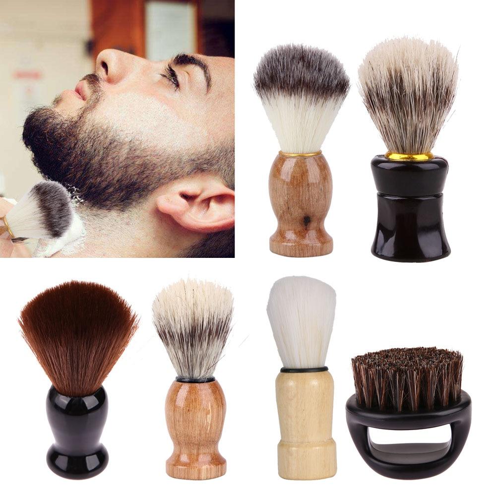 Badger Hair Men's Shaving Brush Salon Salon Men Facial Beard Cleaning Appliance High Quality Pro Shave Tool Razor Brushes