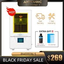 Anycubique Photon S SLA imprimante 3D, double axe Z, écran tactile 2K, résine UV impressora 3d drucker 3d