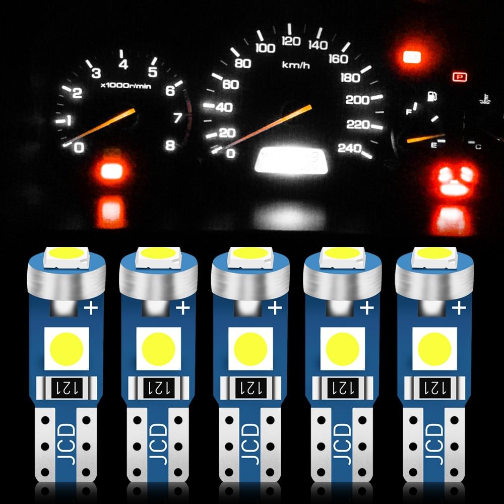 10 Uds T5 bombilla Led W3W Led Canbus coche lámpara de instrumento para GAZ para lada VESTA niva kalina priora granta largus vaz samara 2110