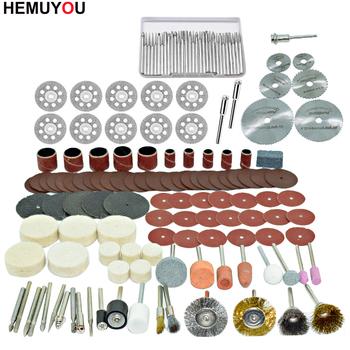 100 sztuk grawer narzędzia ścierne akcesoria Dremel akcesorium do narzędzia obrotowego zestaw pasuje do wiertarka Dremel szlifowanie polerowanie piły tanie i dobre opinie HEMUYOU Elektryczne 100PCS