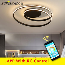 Czarno biały nowoczesny żyrandol Led wyposażenie domu żyrandol sufitowy LED oświetlenie do salonu sypialnia kuchnia lampa do salonu
