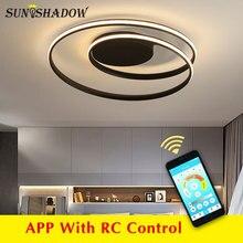 שחור ולבן מודרני Led נברשת תאורה בית LED תקרת נברשת תאורה לסלון חדר שינה מטבח סלון מנורה