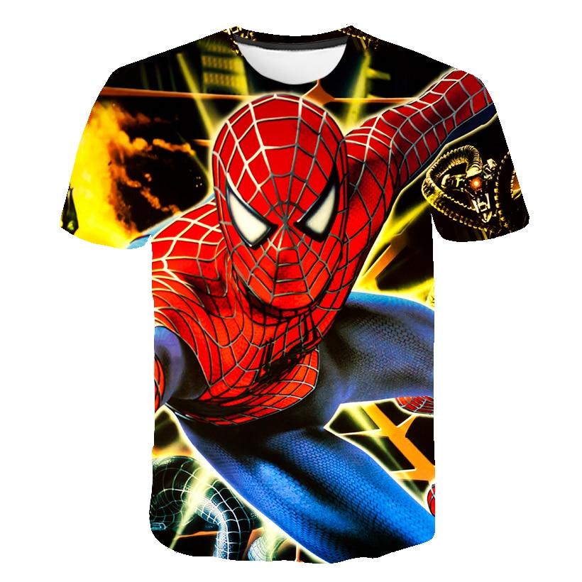Baby Boys T Shirts Kids Cartoon Spiderman Short Sleeve T-shirt Child Girls Clothes Summer Boys Shirt Children Tops 2020 Camiseta