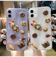 3D Cartoon Bear Figure Case for Huawei P30 Pro P40 Pro Mate 30 Nova 5 6 Phone Cover
