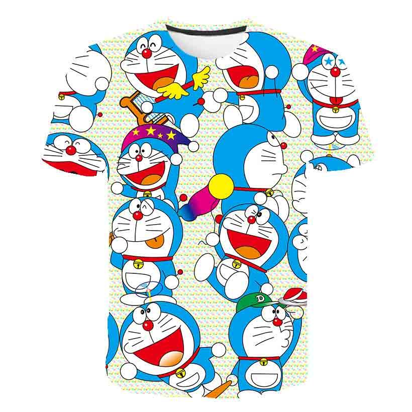 3D Boys Do Rae mon Print Girls Funny Anime Cartoon T-shirts Children 2021 summer Clothing Kids Clothes Anime Kawaii Tshirts Tops