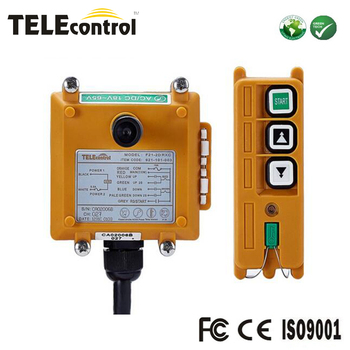 Portable and Pocket type Telecontrol 1 transmitter 1 receiver  2 keys double speed Telecrane wireless remote control F21-2D