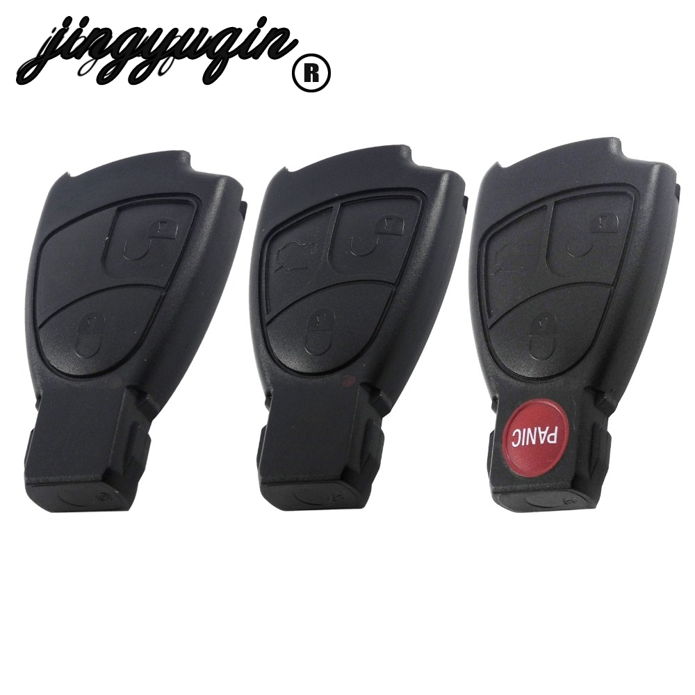 jingyuqin 10p 2/3/4 B Car <font><b>Key</b></font> Replacement Remote <font><b>Key</b></font> Shell Case Cover For <font><b>Mercedes</b></font> Benz C B E Class <font><b>W203</b></font> W211 W204 YU BN CLS CLK image