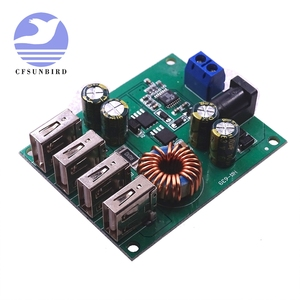DC DC 9V 12V 24V 36V 48V 7-60V to 5V Voltage Regulator Buck Converter 5A Volt Transformer Power Supply Module 4 USB Ports(China)