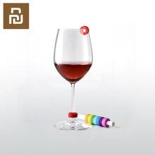 8 Teile/schachtel Neueste Kreis Freude Wein Glas Identifikation Ring Rot Wein Lebensmittel Kontaktieren Ebene Breite Palette von tassen licht