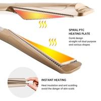 Professional Hair Straightener Hair Crimper Straightening Iron & Curling Iron Hair Curler 2 in 1 Flat Irons Ceramic Styling Tool 3