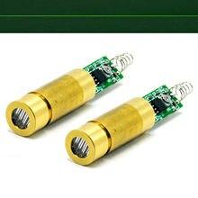 2pcs 532nm 5mW 3V-3.7V Green Laser Line Diode Module w / Spring & Driver