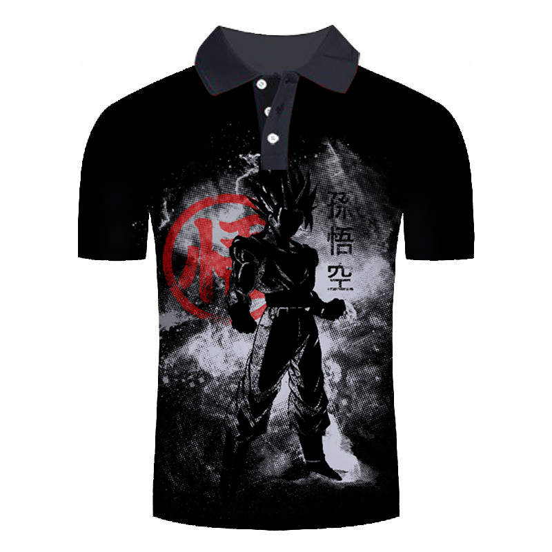 New Fashion Anime Design   Polo   Shirts Men Dragon Ball Z Printed   Polo   Shirt For Male Short Sleeve Summer Tops Man Tees