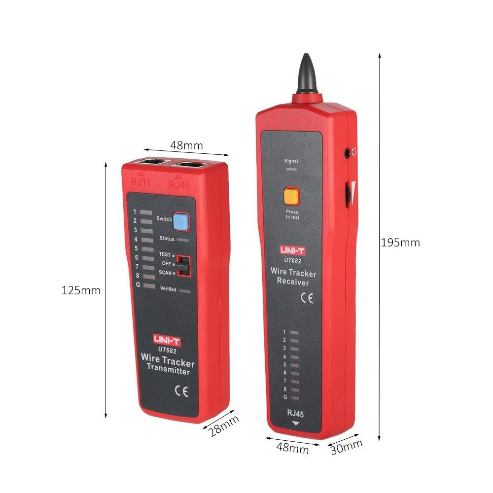 UNI-T UT682 Многофункциональный ручной тестер провода трекер RJ11 RJ45 кабель искателя провода инструмент тестирования для обслуживания сети