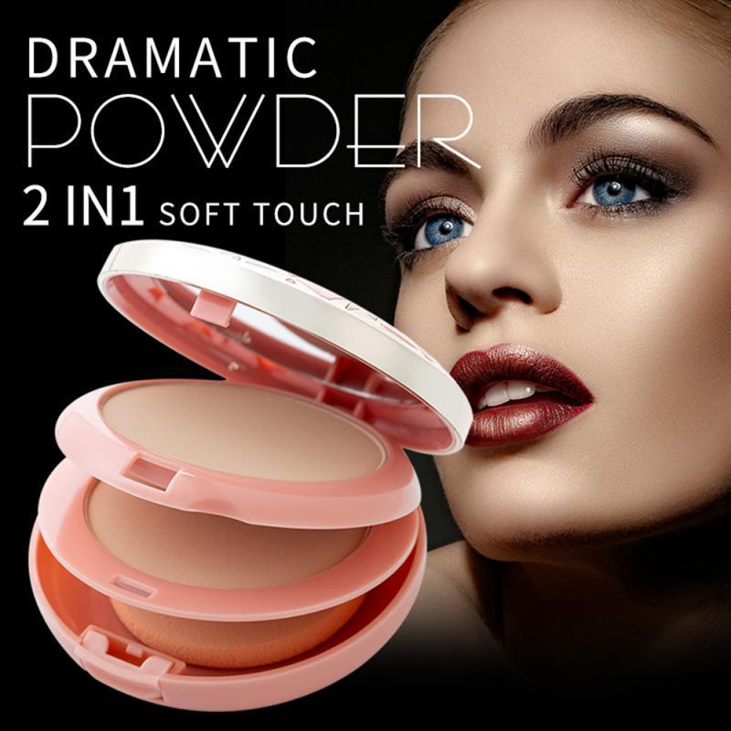 2 цвета, пудра для макияжа, бронзатор, хайлайтер, Палетка с блеском, контур, Косметика для макияжа, пудра для лица TSLM1