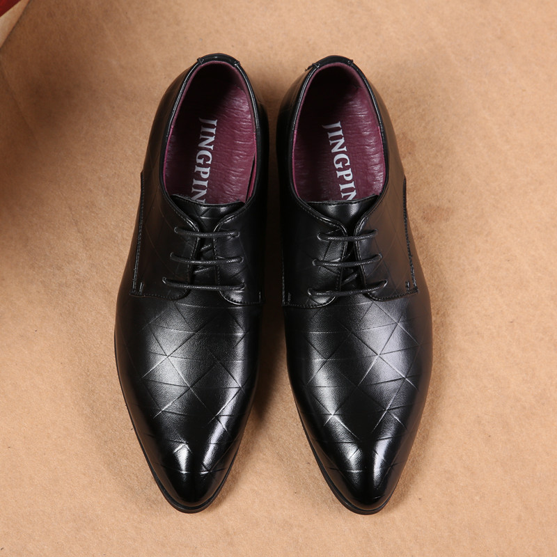 Men Autumn Wedding Shoes Oxfords Luxury Dress Leather Shoes Lace-up Business Casual Leather Shoe Mens Fashion Formal Flat Shoes